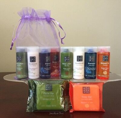 RITUALS Shampoo Conditioner Lotion Shower Gel 2 Soaps Travel GIFT SET w/Bag