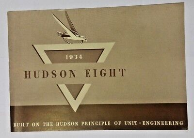 1934 Hudson Eight Dealer Brochure