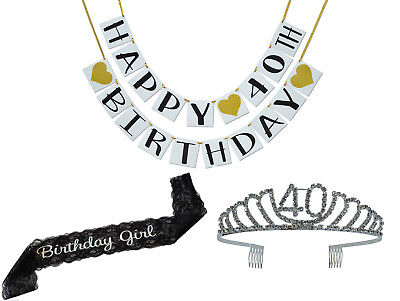 40th Birthday Party Supplies And Decorations Pack