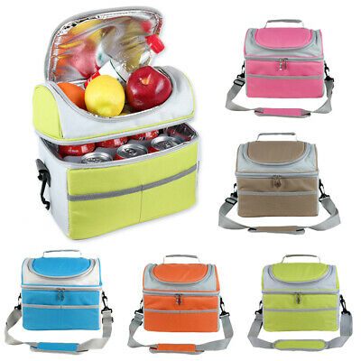 Insulated Thermal Bag Double Layer Picnic Lunch Box Portable Cooler Tote