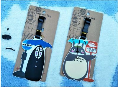 Totoro / No Face Man Travel Luggage Suitcase School ID Bag Name Tag Holder