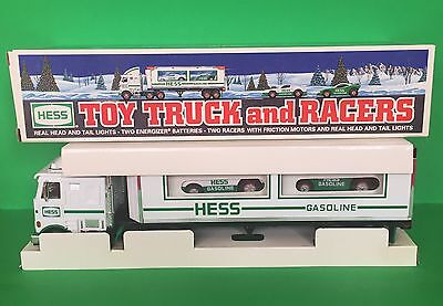 1997 Hess Toy Truck And Racers New In Box - Nice!