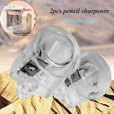 2X Automatic Pencil Sharpener Replacement Blade Electric Touch Switch Two-hole