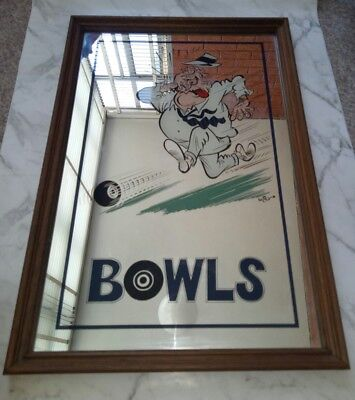 Bowling Vintage Mirror Sign