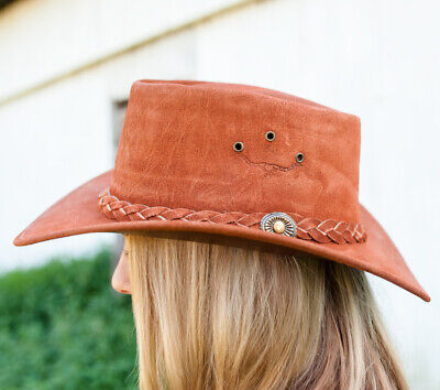 New Redrock Suede Leather Hat - Code 215 Cowboy Cowgirl Hat Brigalow