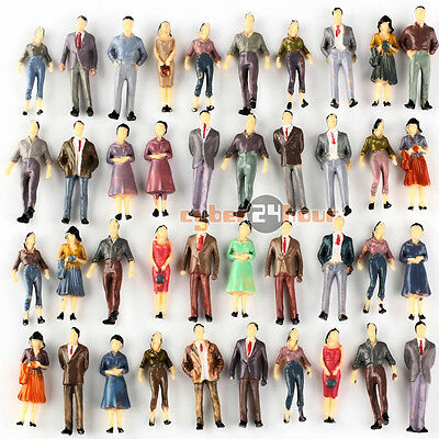 Lots Painted Standing or Sitting Seated Model People Figures 1:50 O Scale Layout