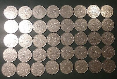 40 Coin Canada Nickel Lot 1923 1931 1933 1935 1936 Canadian Nickels 5 Cents