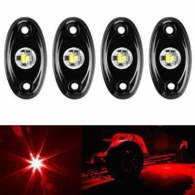 4pcs LED Under Car Tube Strip Underbody Glow Light  JEEP ATV SUV Trail Rig Lamp