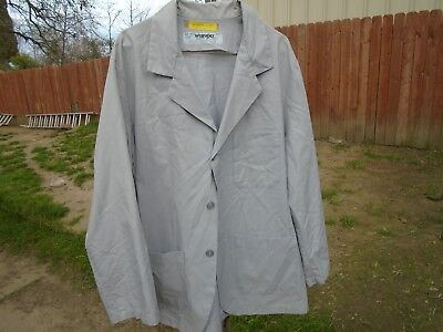 Lab Coat Mens Below the Hips Black or Gray or Blue size Large $5.00 each