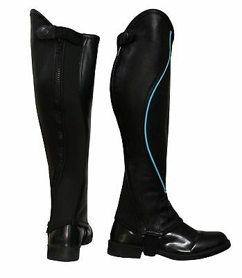 "Riders Trend Kid's Super Grip Grain Gaiter Leather Half Chaps CS Tall 14"" S New"