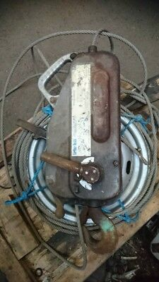 Tirfor cable winch TU16 with wire rope