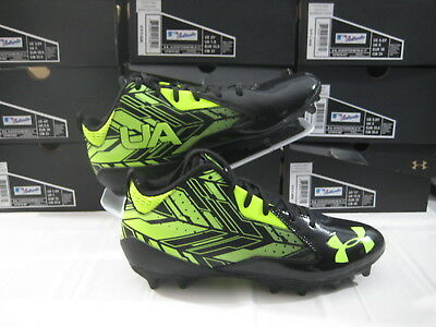 New Under Armour Ripshot Mid MC LaCrosse Cleats Men's Size 9.5 UA Black Yellow