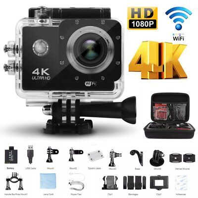 4K Full HD WiFi Sport Aktion kamera Cam wasserdicht 30 fps 16MP as Go pro SJ4000