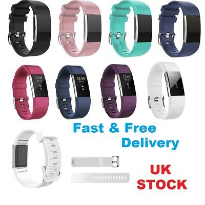For Fitbit Charge 2 Replacement Band Wrist Strap Silicone Sports Bracelet New