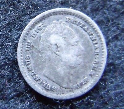 1834 William IV Milled Silver Three-Halfpence coin
