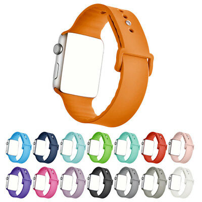 NEW Replacement Silicone Wrist Sport Band Strap For  Watch Series 3/2/1