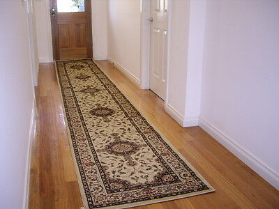 Hallway Runner Hall Runner Rug Traditional Cream 3 Metres Long FREE DELIVERY