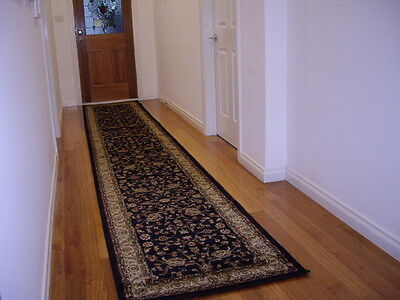 Hallway Runner Hall Runner Rug 3 Metres Long Persian Traditional Designer Black