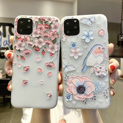 FOR IPHONE 8 X 6s 7 Plus 5s Emboss Floral Relief Pattern