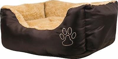 Small Pet Bed 60cm x 50cm x 18cm -Extra soft comfortable with Cushion for pets