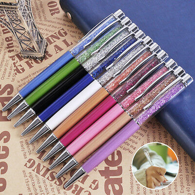 5 Colors Ball Point Pens Crystal  Ballpoint Pen Filled With Diamond Elements