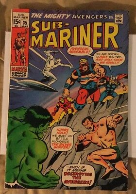 Sub-Mariner #34 (Feb 1971, Marvel)!Prelude to first Defenders