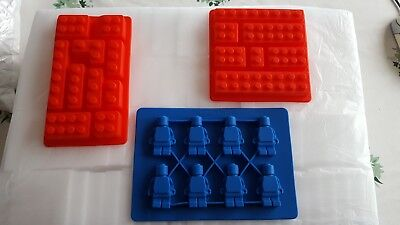 Lego Bricks Cake Soap Shape Ice Cube Cubes Silicone Tray Mould Fridge Freezer