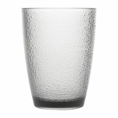 Pack of 6 Kristallon Polycarbonate Tumbler Pebbled Clear 275ml