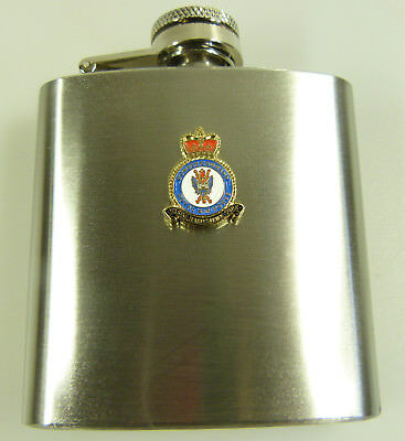 RAF Royal Air Force Bomber Command Badged Hip Flask