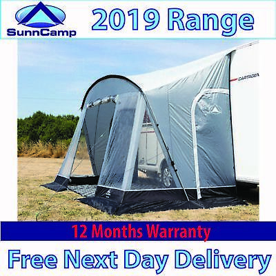 SunnCamp Swift 390 Deluxe Caravan Porch Awning - 2019 Latest Model