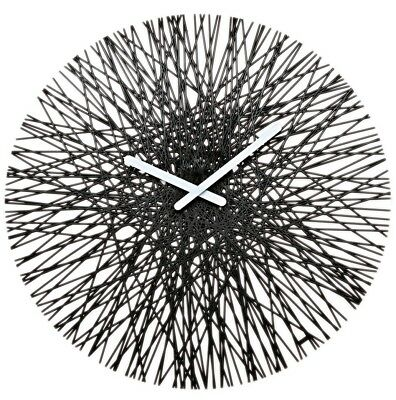 Koziol Silk Crystal large modern art Wall Clock timeless design - raspberry red