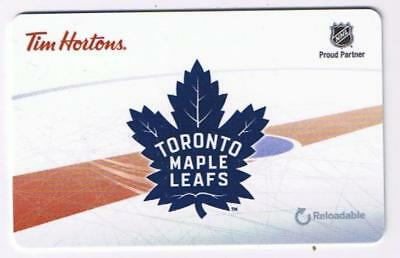 Tim Horton's 2016 Gift Card NHL Toronto Maple Leafs No Value