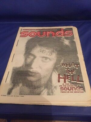 Sounds Magazine  Oct 8 1977 Bowie (1.5 page article) Boys. Motors, Richard Hell