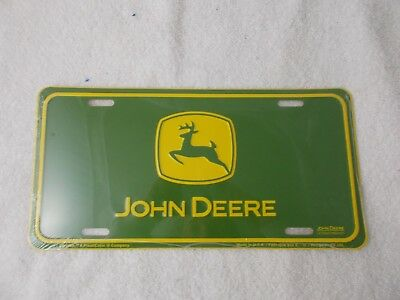 John Deere License Plate New-Sealed FREE SHIPPING