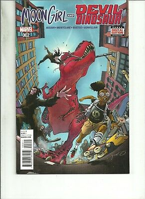 Moon Girl And Devil Dinosaur #2  Marvel Comics 1St Print 2076 Vf/nm