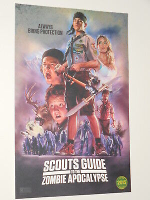 SCOUT'S GUIDE TO THE ZOMBIE APOCALYPSE 11x17 PROMO MOVIE POSTER