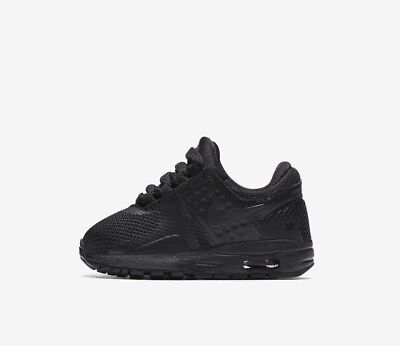 huge discount 8017c 123ee Nike Air Max Zero Essential (TD) 881227-006 Triple Black Toddler Boy s Shoes