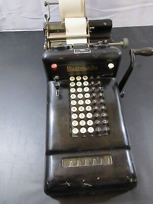 Vintage Burroughs Mechanical Adding Machine 5 Column Class-3 *Tested & Works