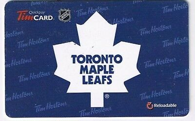 Tim Horton's 2015 Gift Card NHL Toronto Maple Leafs No Value