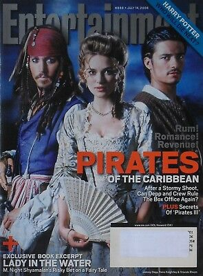 JOHNNY DEPP  KEIRA KNIGHTLEY  ORLANDO BLOOM 2006 ENTERTAINMENT WEEKLY Magazine