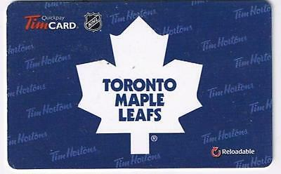Tim Horton's 2014 Gift Card NHL Toronto Maple Leafs No Value