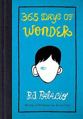 365 Days of Wonder by R.J. Palacio Paperback Book Free Shipping!