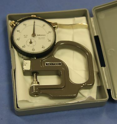 """(1) Used Mitutoyo 7300 Dial Thickness Gage Graduations: 0.001"""" Range: 0-0.4"""""""