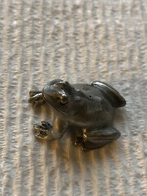 Pewter Blackinton Minature Frog - 1 Inch