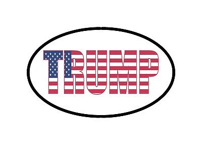 Donald Trump USA Flag Sticker Bumper Sticker Oval President Political Republican