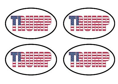4X Donald Trump USA Flag 5X3 Bumper Sticker Oval President Political Republican