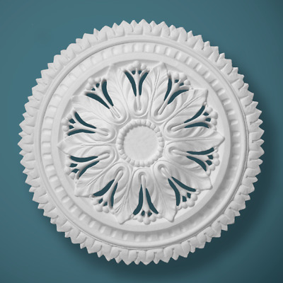 "Plaster Ceiling Rose Small Victorian 490mm/ 19"" Handcrafted"