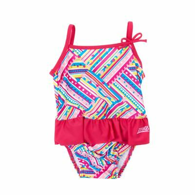 Brand New Kids girl swimsuit ZOGGS Age 2-3 built in swim nappy 1 Piece FREE P&P