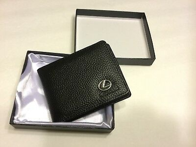 5ac46e73b7ae LEXUS BIFOLD Wallet Leather Men's Credit ID Card Holder Purse New in Gift  box