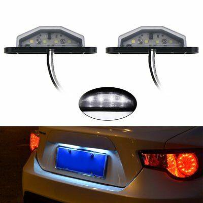 2X 4LED License Number Plate Light Tail Rear Lamp For Truck Car Lorry 12/24V NI